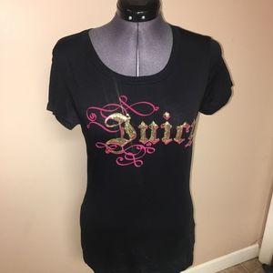 Juicy Couture graphic sequin t-shirt medium